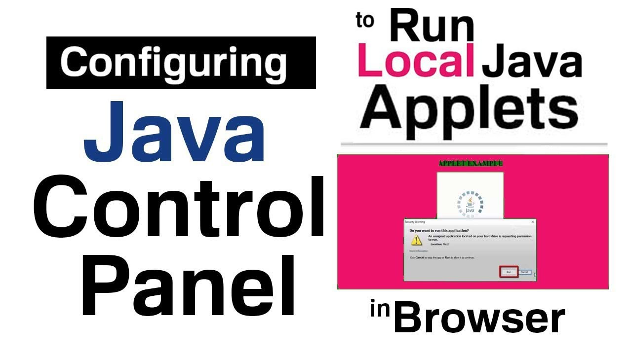 How to Configure Java Control Panel to Run Local Java Applets in Browser?  (HINDI)