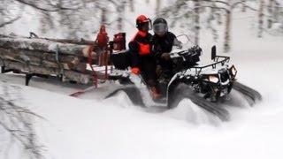 Polaris 550 Prospector tracks & Atv-Expert Timber Pro 600 skiset