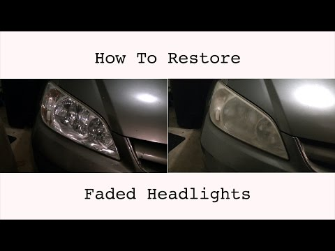 DIY How Restore Faded Headlights : 04 Honda Civic