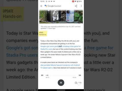 Google Assistant Read It