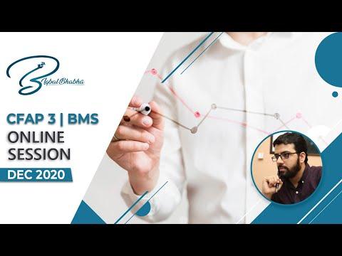 CFAP 3 BMS DEC 20 | Online Session | Iqbal Bhabha
