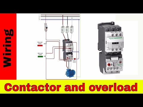 How to wire contactor and overload