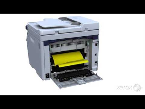 Clear a Paper Jam from the Output/Exit:Xerox® WorkCentre® 6015