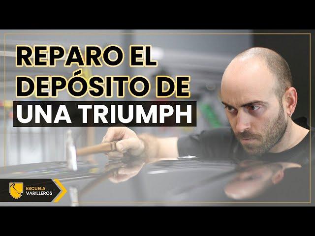 Reparación de un depósito de combustible | Triumph Bonneville