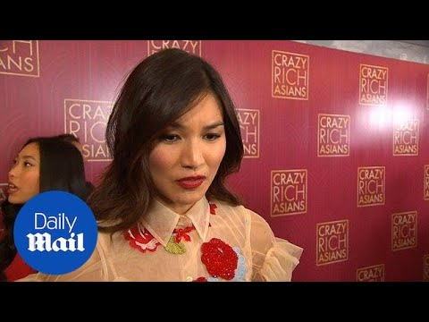 Gemma Chan and stars of Crazy Rich Asians talk on red carpet