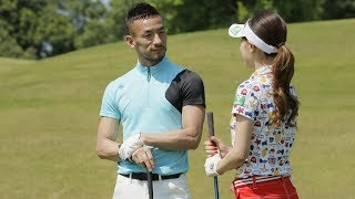 中田英寿&竹村真琴/曲がらないティショット Part.1(デサント ゴルフ)