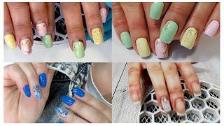 Синий дизайн ногтей 2020 ХРОНИКА клиентки Привет гвоздям