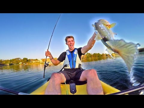 URBAN Kayak Bass Fishing In AFRICA! -- (AFRICA D.6-7)
