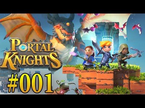 PORTAL KNIGHTS PS4 PART 1 - FINKEN FORT, Grunzer Grünschnabel   Let´s Play Portal Knights Deutsch