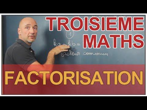 Factorisation - Maths 3e - Les Bons Profs