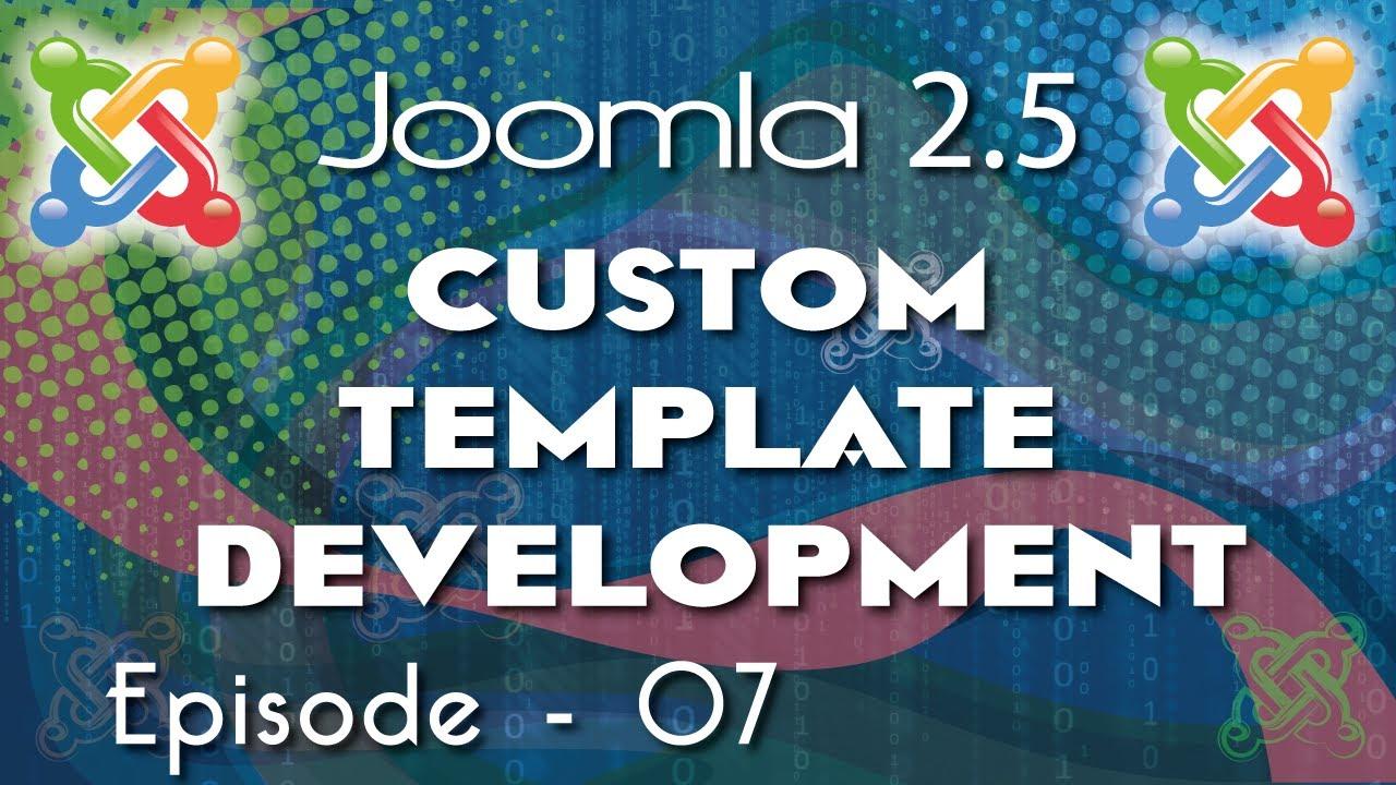Joomla 2. 5 custom template development ep 3 youtube.