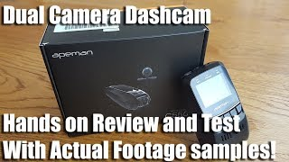 Unboxing and review of a APEMAN 1080P FHD Dual In Car Dash Cam