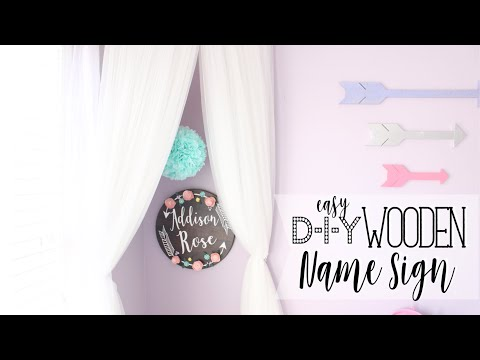 DIY Toddler Room Decor | Custom Wooden Name Sign | At Home With Quita