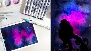 Art timelapse: Lion King Galaxy Watercolor