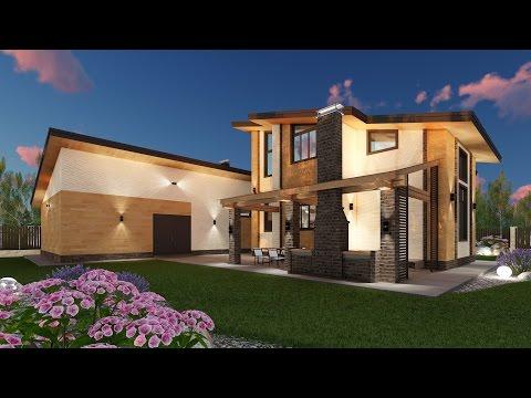Проект одноэтажного дома c мансардой из кирпича