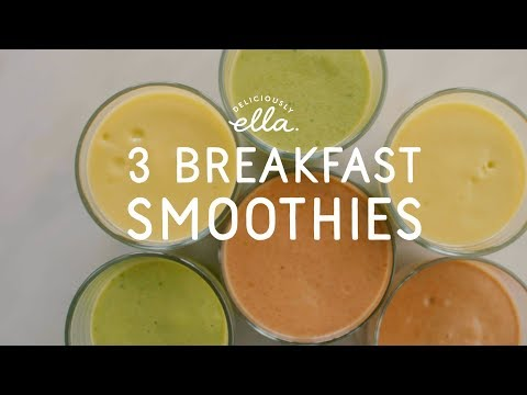 three-vegan-breakfast-smoothies-|-deliciously-ella