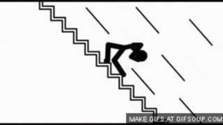 falling down the stairs cursing sound effect