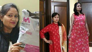 Myntra wedding/casual dress haul,Affordable partywear gown/kurta/dress haul,anvesha,screativity