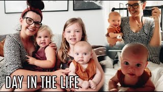 DAY IN THE LIFE WITH A 3 MONTH OLD | DAILY BABY ROUTINE