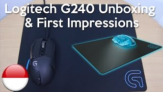 Logitech G240 Cloth Gaming Mouse Pad - Indonesia Unboxing