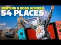 Dark Souls: Beating a Boss Across 54 Locations