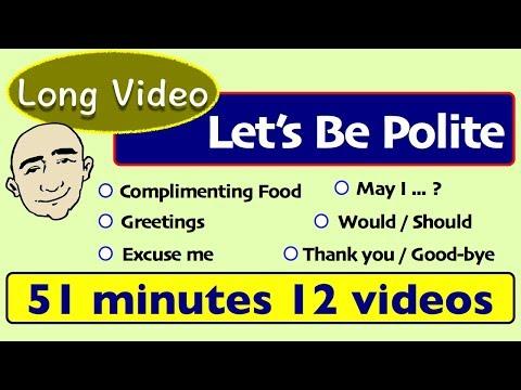 Be Polite in English   English Speaking Practice   ESL   Long Video