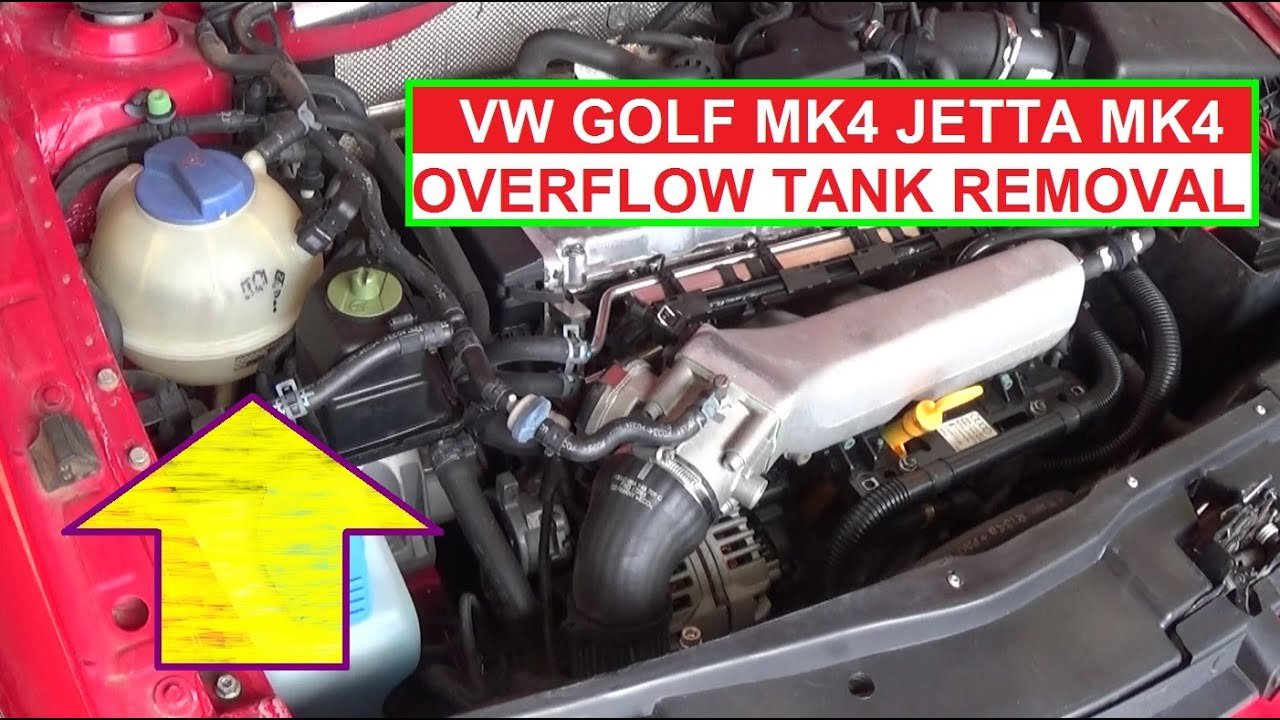 How to Remove and Replace the Coolant Overflow Reservoir Tank on VW JETTA MK4 GOLF MK4 - YouTube