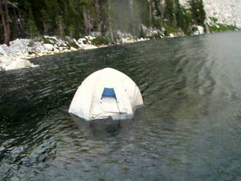 Tent Floating Test & Tent Floating Test - YouTube