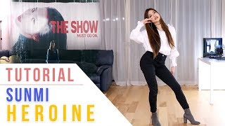 SUNMI (선미) - Heroine (주인공) Dance Tutorial (Mirrored) | Ellen and Brian