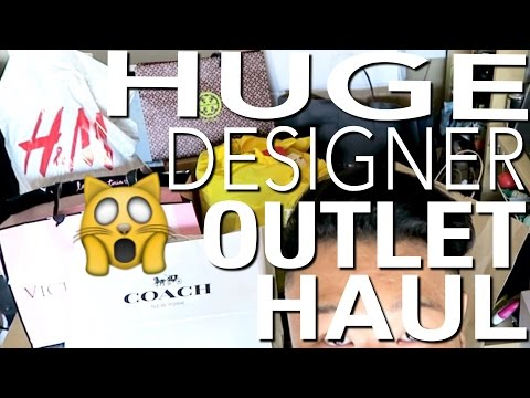HUGE DESIGNER OUTLET HAUL FT. TORY BURCH, COACH, TOMMY HILFIGER, J.CREW, GAP, AND VC!