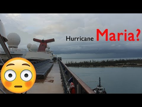 CARNIVAL PRIDE CRUISE VLOG 2017 Day 7 PART 1   Hurricane in Freeport!?!?