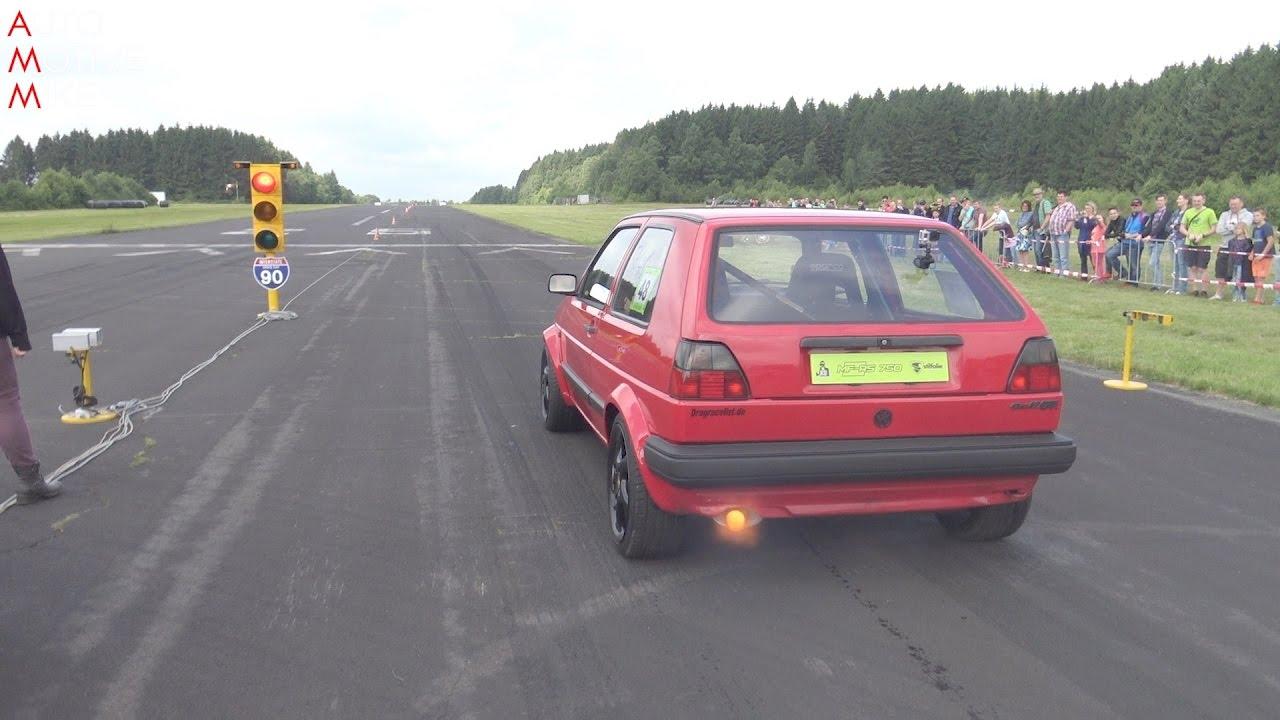 Volkswagen Golf II. generácie - Extrémna akcelerácia z 0 na 300 km/h pod 10 sekúnd!