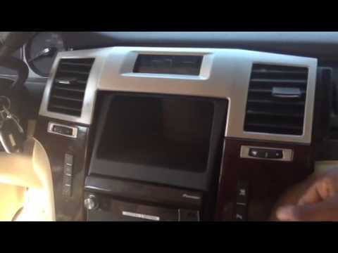 How to change radio in a 07 cadillac escalade - YouTube