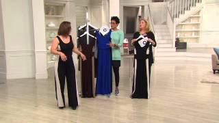 Attitudes by Renee Wide Leg Color-Block Knit Jumpsuit with Pat James-Dementri