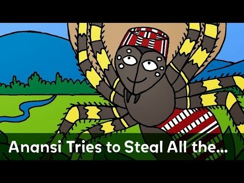 image regarding Printable Anansi Stories called Folktale: Anansi Attempts toward Steal All the Knowledge within the International go through via Nick Cannon