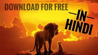 How to download The Lion King (2019) for free in Hindi.