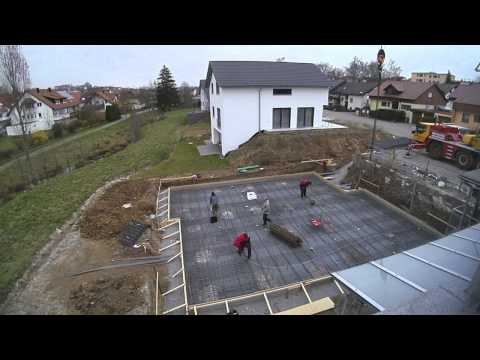 hausbau bodenplatte youtube