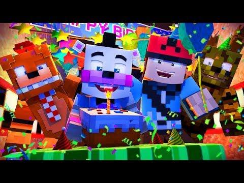 Minecraft FNAF 6 Pizzeria Simulator - HELPYS BIRTHDAY
