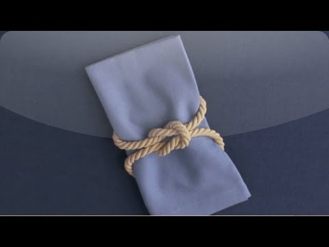Diy Square Knot Napkin Ring Martha Stewart Weddings Youtube
