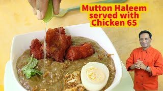 Mutton Haleem served with Chicken 65 Hyderabad Haleem Latest trends in  Haleem recipes for Ramadan