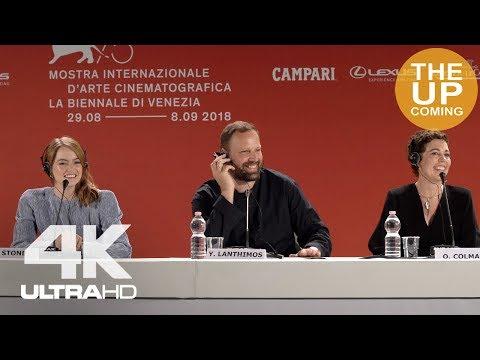 Emma Stone and Olivia Colman: The Favourite press conference at Venice Film Festival
