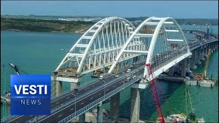 Crimea Soon Open to Train Travel! Railway Section of New Bridge to Be Finished by Next Year!
