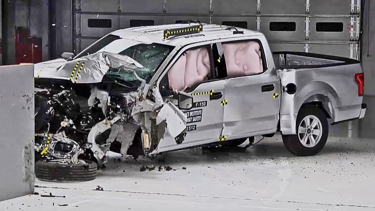 crash test 2015 ford f 150 supercrew and supercab youtube