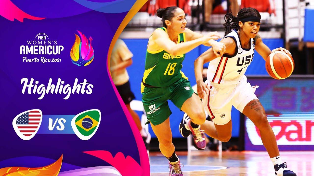 USA - Brazil | Semi-Finals | Highlights | FIBA Women's AmeriCup 2021