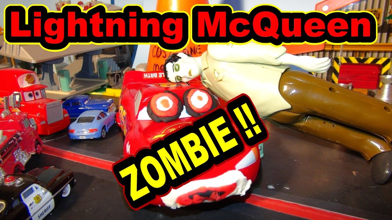Lightning McQueen Becomes A Zombie For Halloween He Gets Bit By A Zombie In