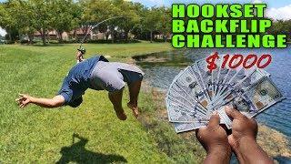 BACKFLIP HOOKSET Bass Fishing Challenge!!!