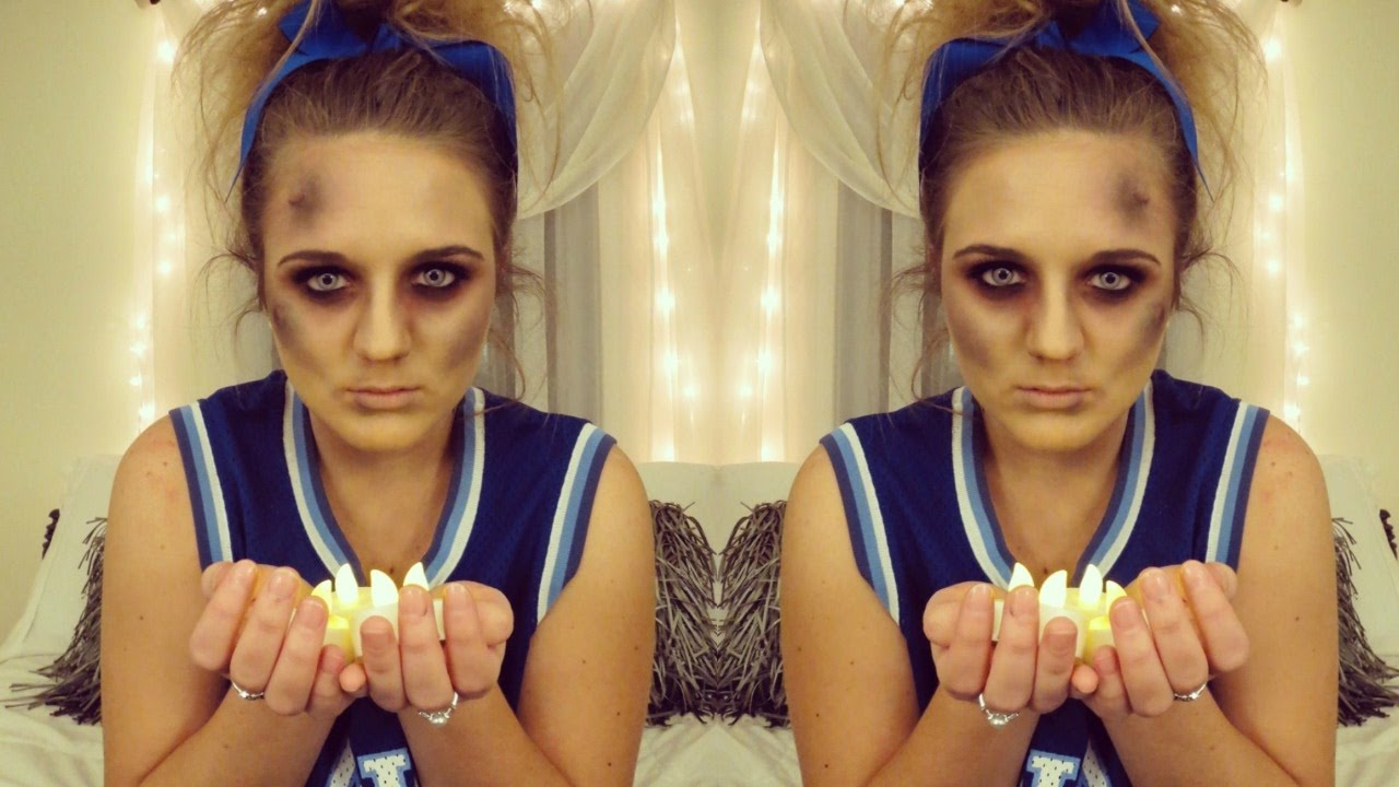 Dead Cheerleader Costume | Halloween Tutorial Using Everyday Makeup!  sc 1 st  YouTube & Dead Cheerleader Costume | Halloween Tutorial Using Everyday Makeup ...