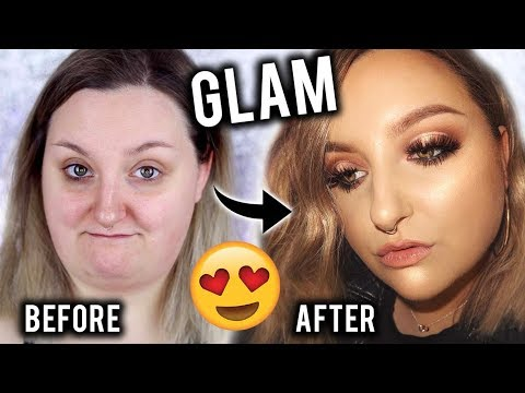 GETTING GLAM FOR AN EVENT/PROM | HAIR & MAKEUP TUTORIAL/TRANSFORMATION