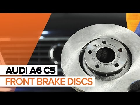 How to replace front brake discs and front brake pads on AUDI A6 C5 TUTORIAL | AUTODOC