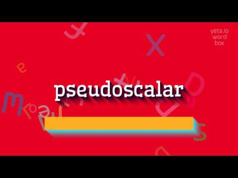"""How to say """"pseudoscalar""""! (High Quality Voices)"""
